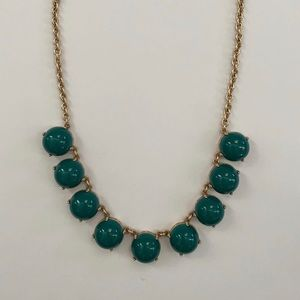 J. Crew Factory Green Statement Necklace